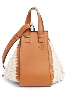 Loewe Small Hammock Cotton & Leather Hobo