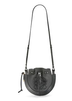 Loewe Small Horseshoe Anagram Canvas & Leather Crossbody Bag