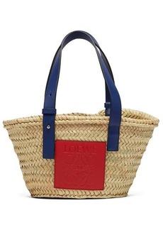 Loewe Small logo-debossed raffia basket bag