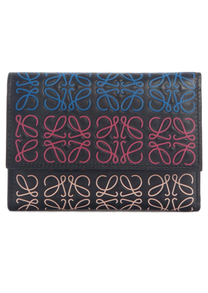 Loewe Small Logo Embossed Leather Wallet