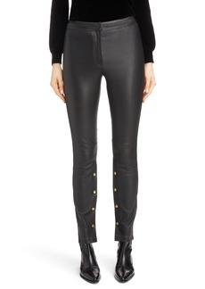 Loewe Snap Detail Leather Pants