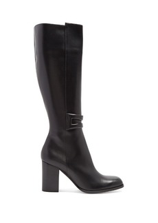 Loewe Square-toe leather knee-high boots