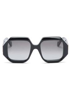 Loewe Story hexagonal acetate sunglasses