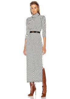 Loewe Stripe High Neck Jersey Dress