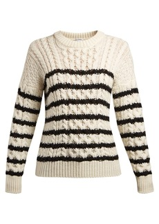 Loewe Striped cable-knit sweater