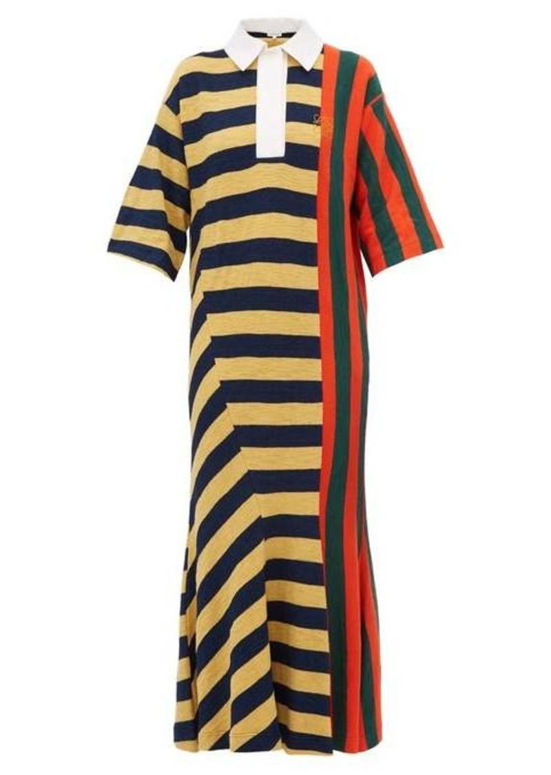 Loewe Striped cotton rugby shirtdress