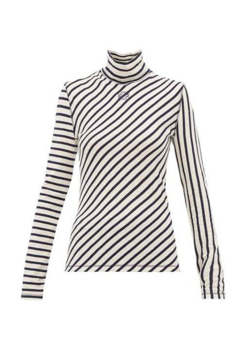 Loewe Striped high-neck cotton sweater