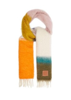 Loewe Striped mohair-blend scarf