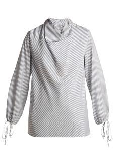 Loewe Striped silk blouse