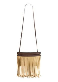 Loewe T Pouch Fringe Leather Crossbody Bag