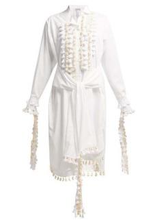Loewe Tasselled cotton shirt dress