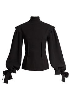 Loewe Tie-cuff exposed-dart cady blouse