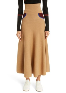 Loewe Trompe l'Oeil Cashmere Midi Sweater Skirt