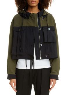 Loewe Two-Tone Cotton & Nylon Hooded Jacket