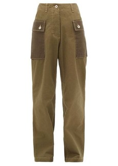 Loewe Two-tone cotton-twill trousers
