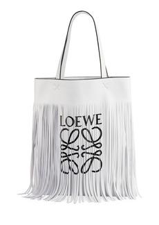 Loewe Vertical Fringe Logo Tote Bag