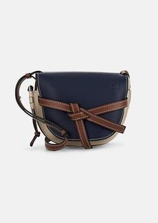 LOEWE Women's Gate Small Leather Shoulder Bag - Tan, Steel blue