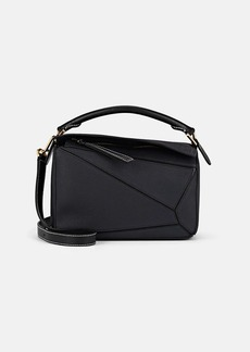 LOEWE Women's Puzzle Small Leather Shoulder Bag - Midnight Blue, Black