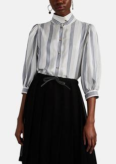 LOEWE Women's Striped Silk Blouse