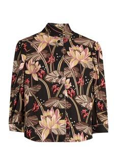 Loewe X Paula's Ibiza floral-print crepe blouse