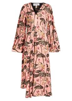 Loewe X Paula's Ibiza floral-print crepe midi dress