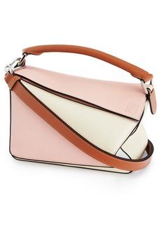 Loewe x Paula's Ibiza Small Puzzle Leather Shoulder Bag