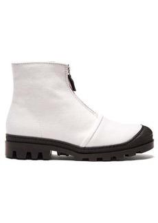 Loewe Zip-up linen boots