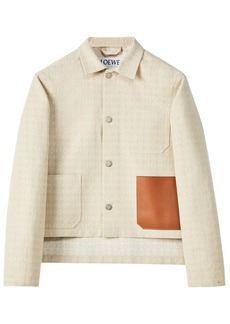 Loewe Logo Cotton Canvas Jacket