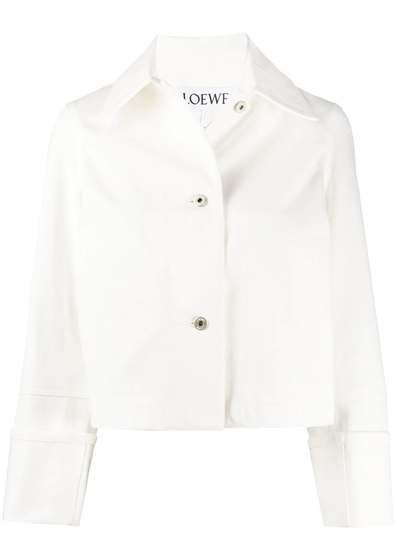 Loewe logo patch cropped jacket
