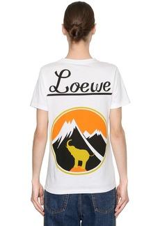 Loewe Logo Printed Jersey T-shirt