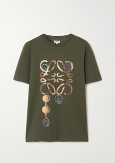 Loewe Metallic Printed Cotton-jersey T-shirt