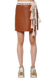 Loewe Nappa Leather Mini Skirt W/ Rope Details