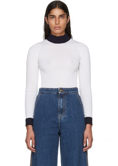 Loewe Off-White Anagram Second Skin Turtleneck