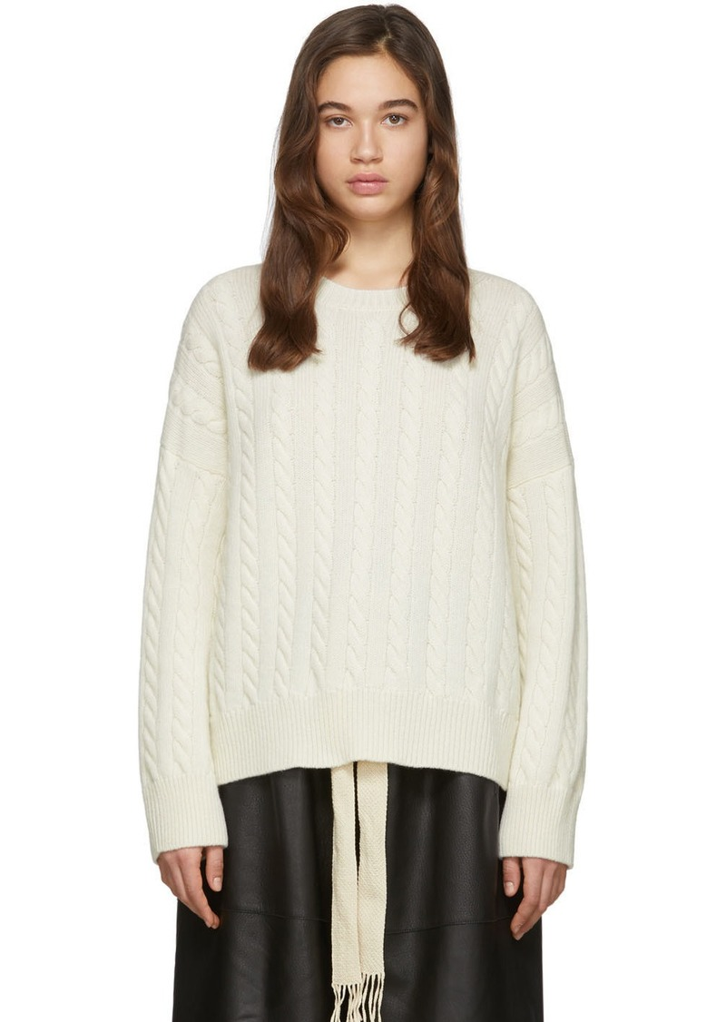 Loewe Off-White Cable Crewneck Sweater