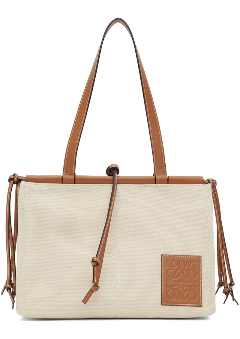 Loewe Off-White Canvas Small Cushion Tote