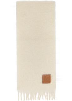 Loewe Off-White Mohair Scarf