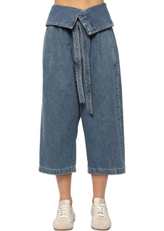 Loewe Oversize Crop Cotton Denim Jeans