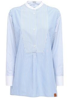 Loewe Oversize Striped Cotton Tunic Shirt
