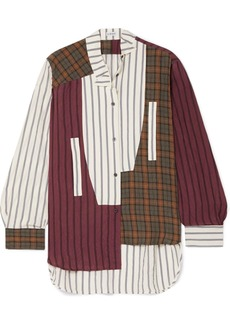 Loewe Oversized Asymmetric Patchwork Printed Voile Shirt
