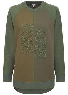 Loewe Oversized Cotton Fleece Sweatshirt