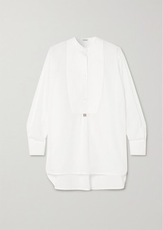 Loewe Oversized Embroidered Cotton-poplin Tunic
