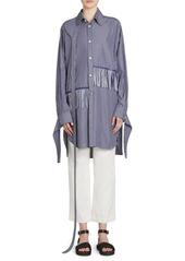 Loewe Oversized Fringe & Strap Striped Shirt