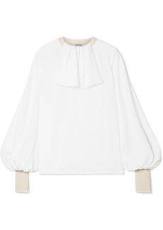 Loewe Oversized Ruffled Silk-georgette Blouse