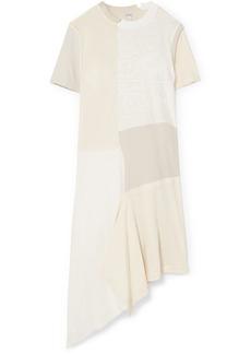 Loewe Patchwork cotton-jersey midi dress