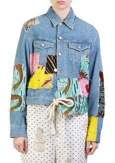 Loewe Paula Patchwork Denim Jacket