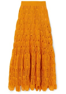 Loewe Paula's Ibiza Crocheted Cotton Maxi Skirt