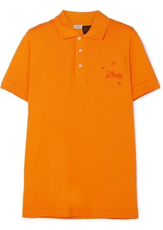Loewe Paula's Ibiza Embroidered Cotton-piqué Polo Shirt