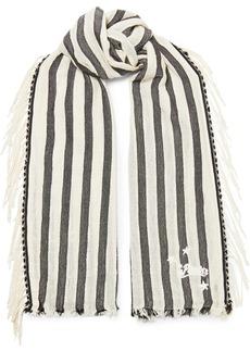 Loewe Paula's Ibiza Fringed Striped Cotton Scarf
