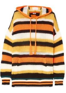 Loewe Paula's Ibiza Hooded Striped Knitted Sweater