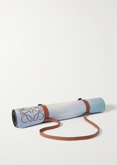 Loewe Paulas Ibiza Leather-trimmed Printed Yoga Mat